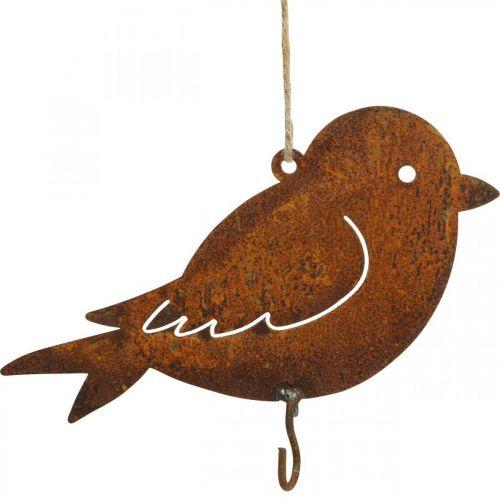 Decoratieve vogel, voedselhanger, metalen decoratie roestvrij staal 19 × 13.5cm