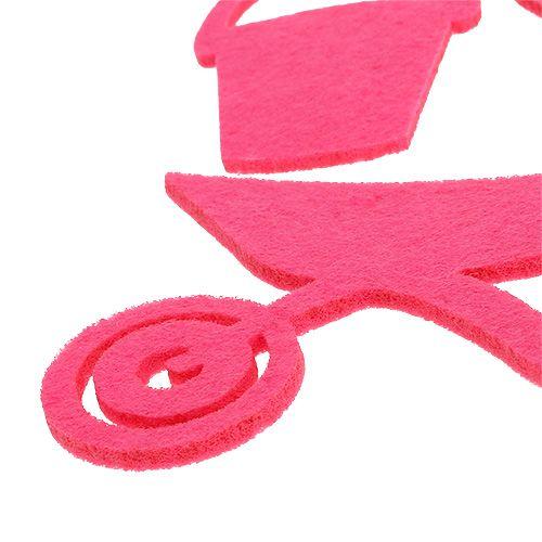 Tuingereedschap voelde roze 24st