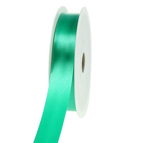 Geschenklint groen lint 25mm 100m