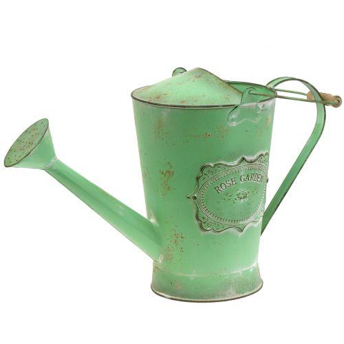Gieter antiek groen Ø19cm H30cm