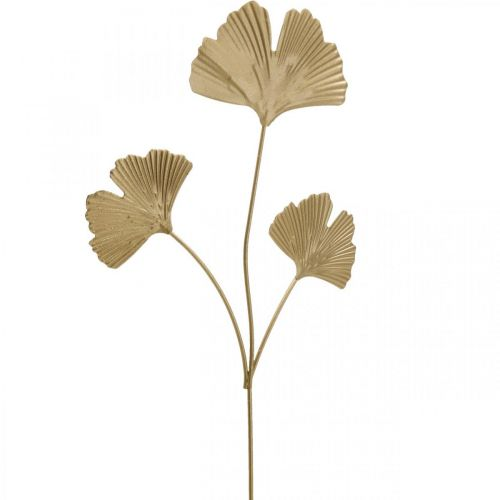 Ginkgo tak metalen decoratieve plug Ginkgo Golden 14 × 28cm 6st