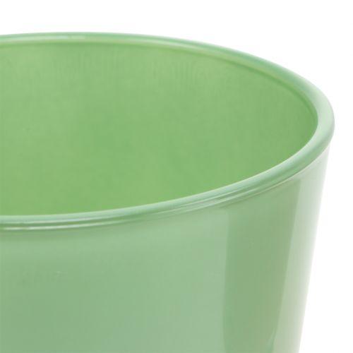 Glazen pot Ø10cm H8.5cm mintgroen