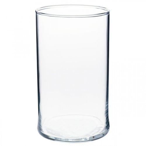 Vaas van helder glas cilindrisch Ø12cm H20cm