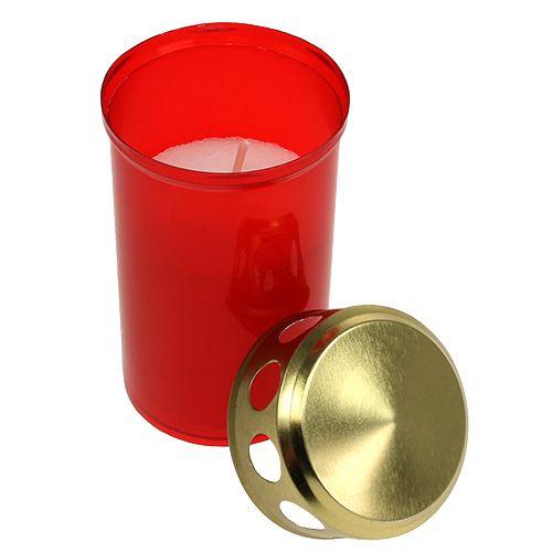 Graf licht cilindrisch rood Ø6cm H10cm 12st