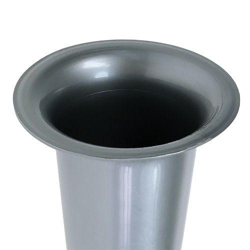 Grafvaas zilver 28.5cm