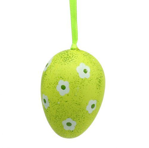 Hanger plastic eieren groen 6cm 12st