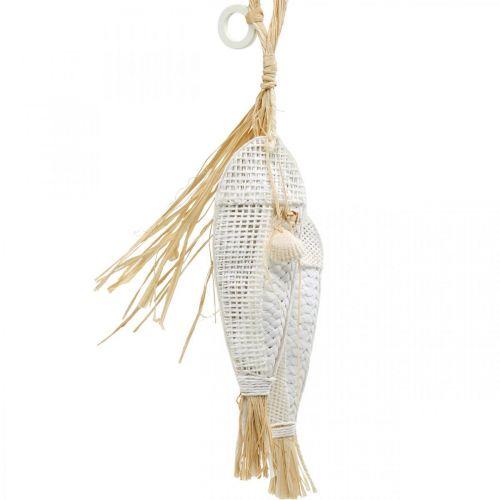 Vis om op te hangen, maritiem, decoratiehangers met vissen, tropische feestdecoraties