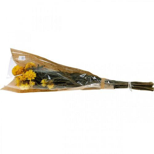 Strobloem gele gedroogde bloemen decoratie bos 75g