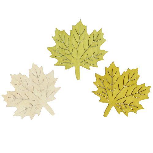 Esdoornbladeren om herfstkleuren te verspreiden assorti 4cm 72st