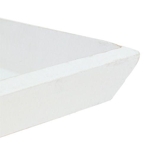 Houten schaal 25 x 25 cm in het wit