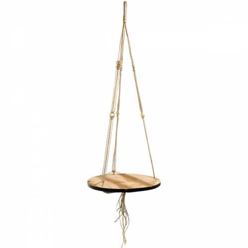 Plantenschommel, bloembak aan touw, hangmand met macramé Ø34cm L84cm