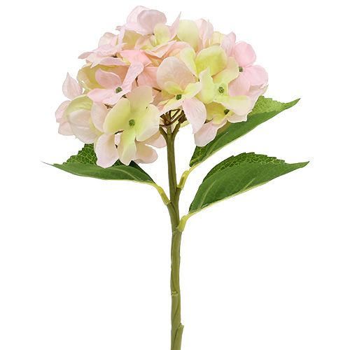Hortensia kunstlicht roze 36cm