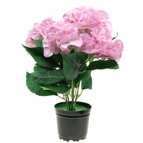 Hortensia in pot Kunstroze 35cm