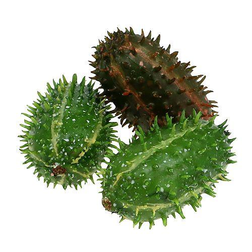 Stekelige peer 5cm groenbruin 6st