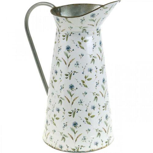 Decoratieve kruik metalen vintage bloemenvaas tuindecoratie plantenbak H33cm
