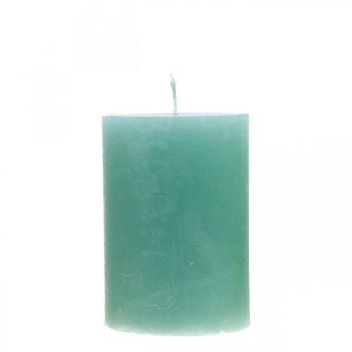 Stompkaarsen groen gekleurd 70 × 100 mm 4st
