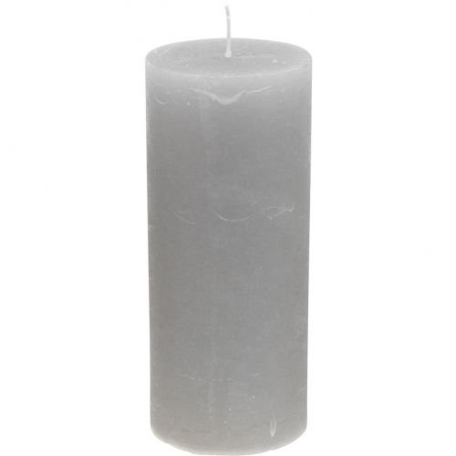 Stompkaarsen lichtgrijs gekleurd 85 × 200 mm 2st