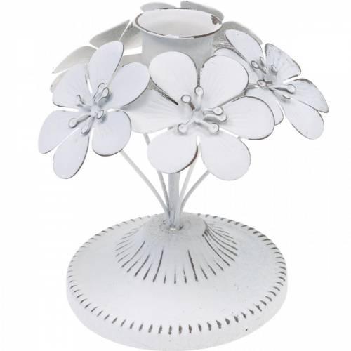 Lentedecoraties, metalen kandelaars met bloemen, huwelijksdecoraties, kandelaars, tafeldecoraties