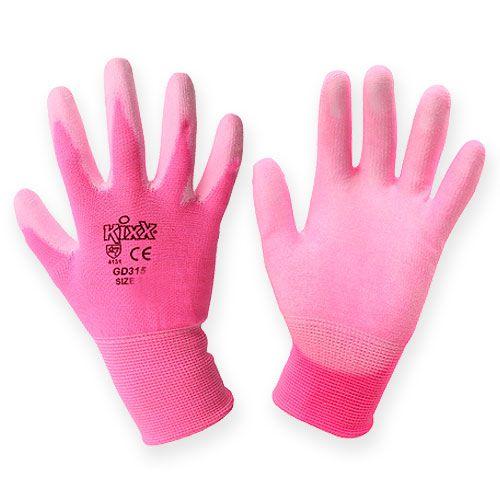 Kixx tuinhandschoenen maat 8 roze, roze