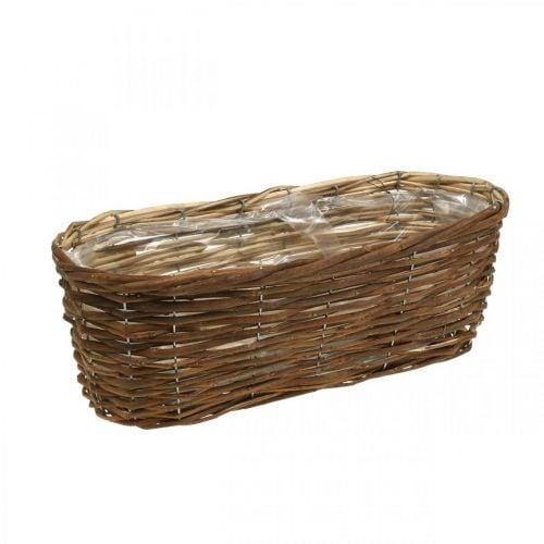 Mandkom, plantenbak, houten mand voor het planten van de natuur L41cm H13.5