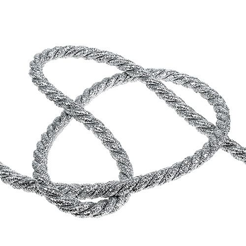 Koord zilver 10mm 10m
