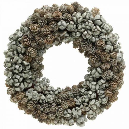 Decoratieve krans kegels lariks cipres tafelkrans kerst Ø30cm