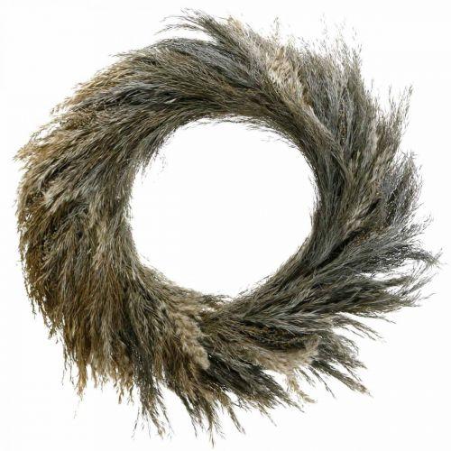 Decoratieve krans droog gras en graan Ø55cm droge krans