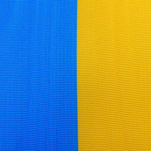 Kranslinten moiré blauw-geel