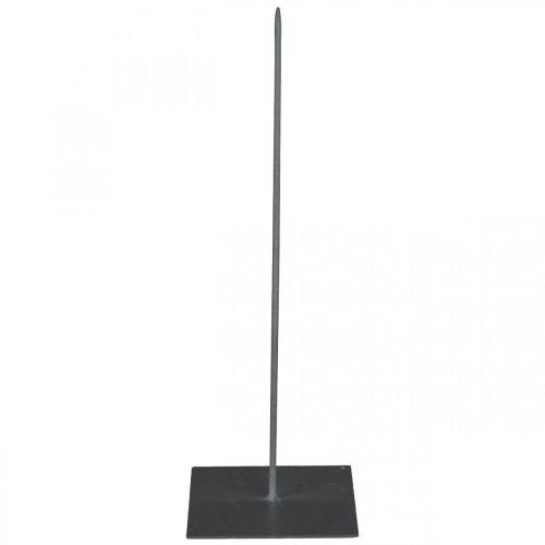 Kranshouder zwart metalen kransstandaard H30cm
