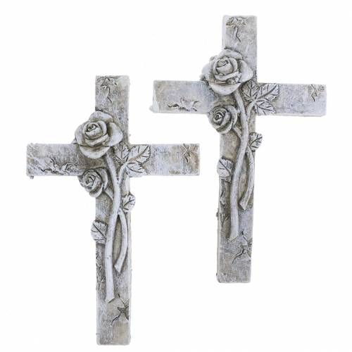 Ernstige sieraden kruis 7,5 cm x 11 cm 4 stks