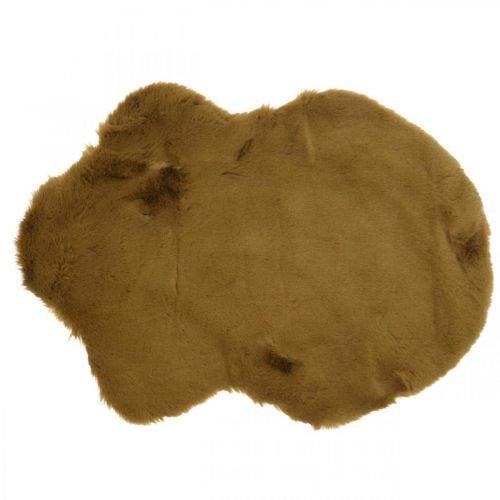 Bont tapijt deco bruin Kunstbont tapijt 55×38cm