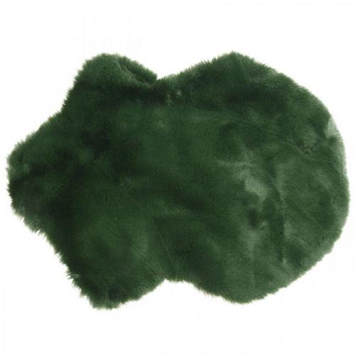 Decoratief bontkleed groen imitatiebont 55 × 38cm