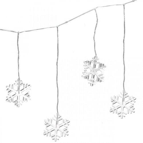 LED raamdecoratie kerst sneeuwvlokken warm wit Voor batterij 105cm