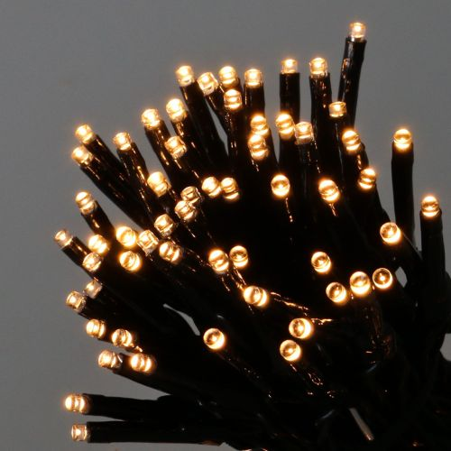 LED lichtketting 144 zwart, warm wit voor buiten 1.2m