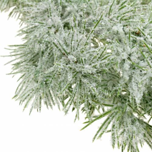 Larikslinger met glitter en sneeuw 160cm