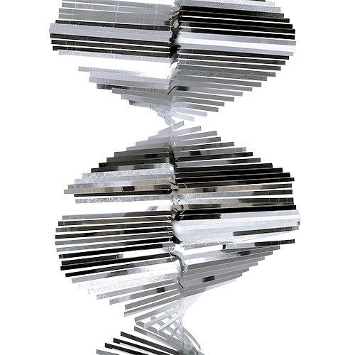 Klatergoud spiraalslinger 1,5 m zilver