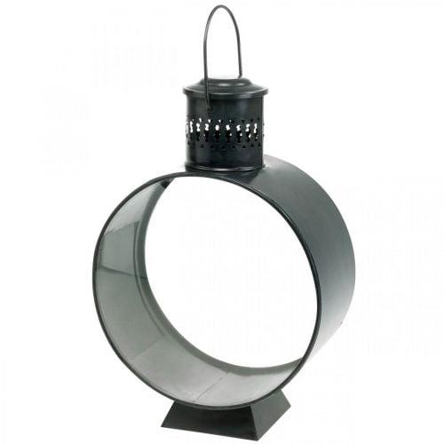 Ronde decoratieve lantaarn, rustieke kaarsdecoratie, metalen windlicht Ø20cm H30cm