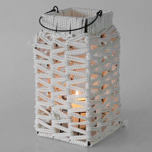 Hanglantaarn, zomerdecoratie, lantaarn, macramé H35.5cm B19cm
