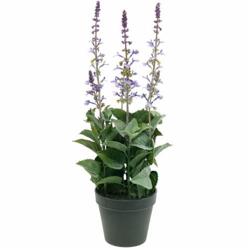 Sierplant lavendel, mediterrane lavendel pot, kunstbloem violet