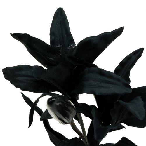Kunstbloemlelie zwart 84cm