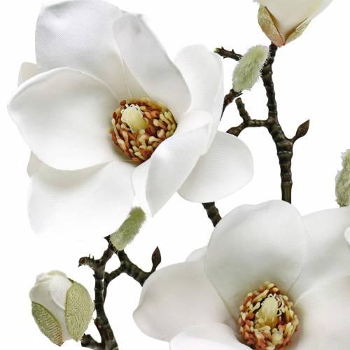Magnolia tak witte decoratieve tak magnolia kunstbloem