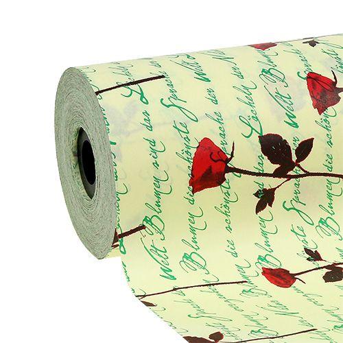 Manchetpapier 25cm 100m Creme Rose