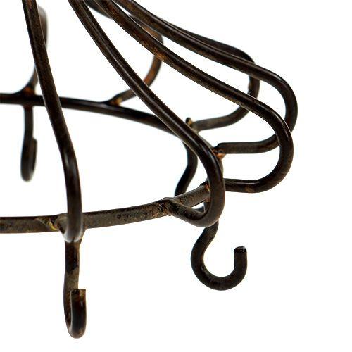 Metalen kroon om bruin op te hangen