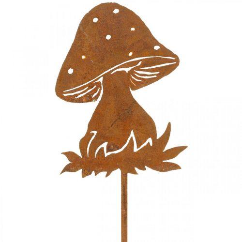 Tuinplug paddestoel roest vliegenzwam herfstdecoratie tuin 47cm
