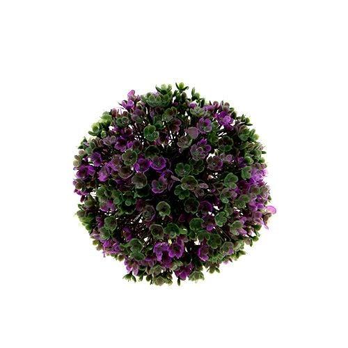Minibal paars met bloemen Ø12cm 1 st