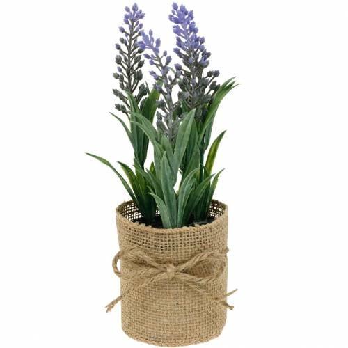 Mini lavendel in een pot Kunstplanten Kunstmatige lavendeldecoratie