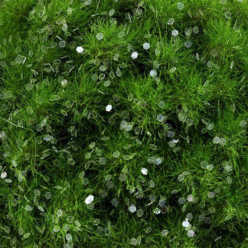 Mosbal met mica Ø9cm groen
