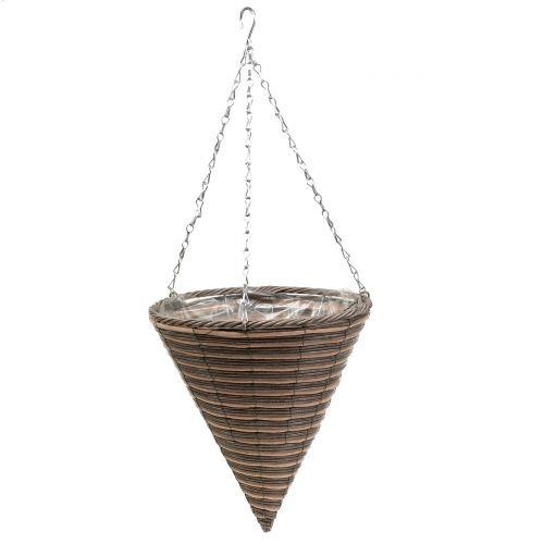 Mand lamp kegel naturel Ø30cm H36cm