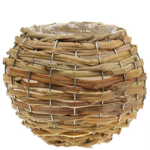 Basketbal voor het planten lichtbruin Ø25cm