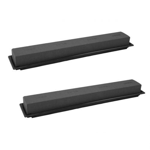 Afmeting plug tafeldecoratie plug foam zwart 48cm 4st